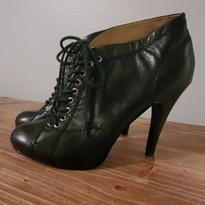 Nine West Lace Up Bootie in Black